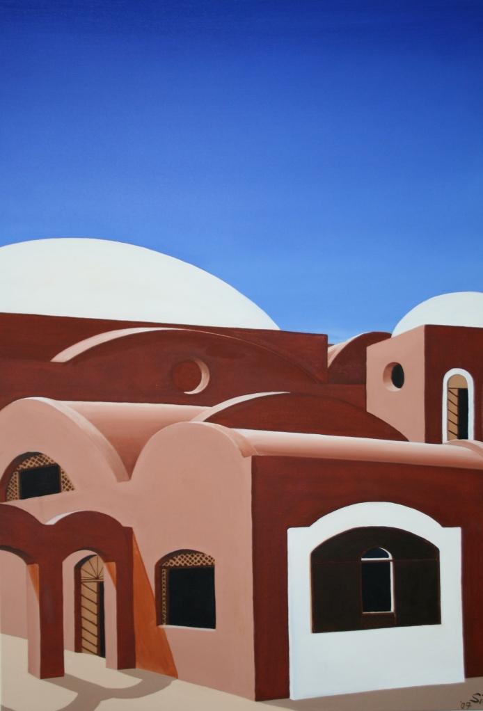 Al-Qusair Öl auf Leinwand 100 x70