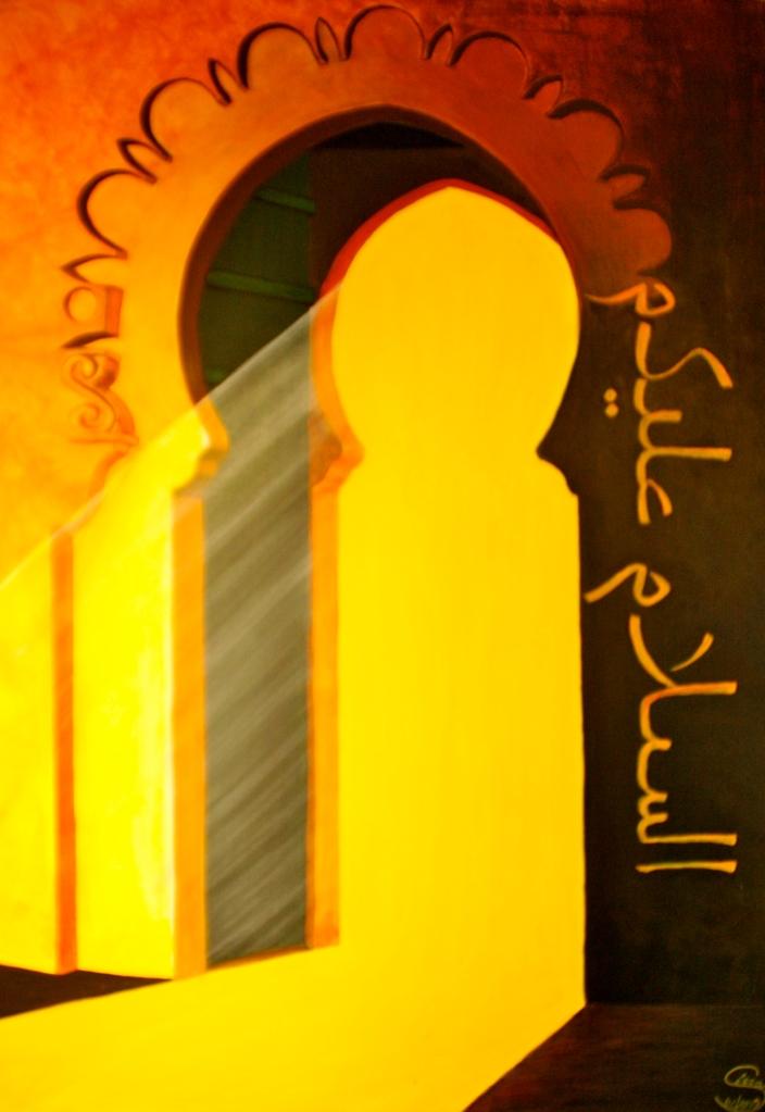 As-Salam Alaykum Acryl auf Leinwand 100 x70