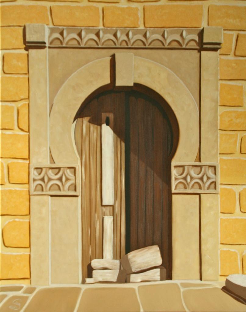 Das Tor in der Mauer Öl auf Leinwand 100 x70