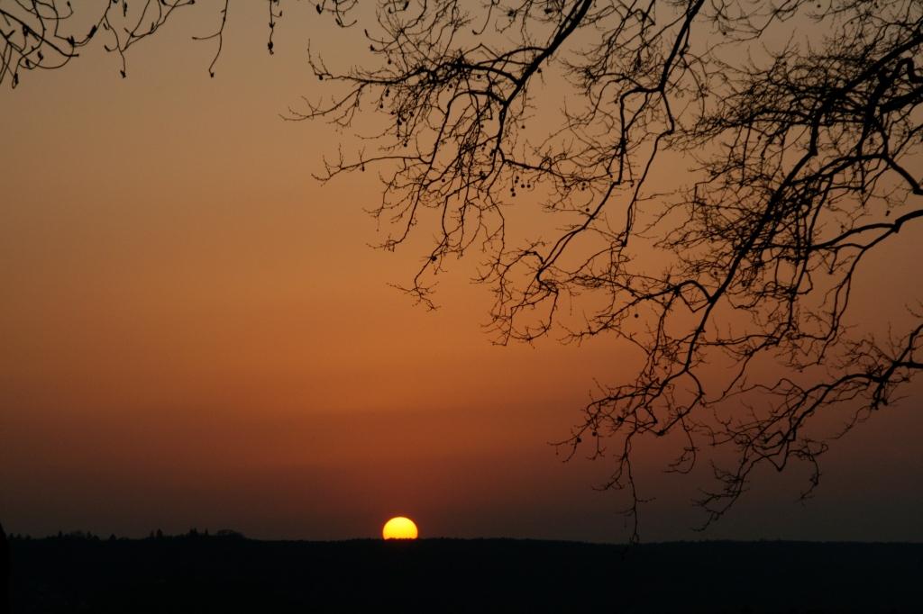 Sonnenuntergang über dem Rhein,Photographie