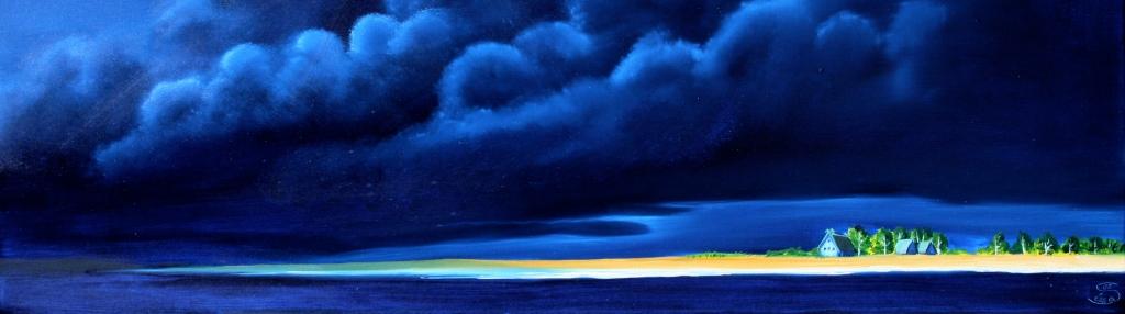 Insel am Meer Öl auf Leinwand, 60 x100