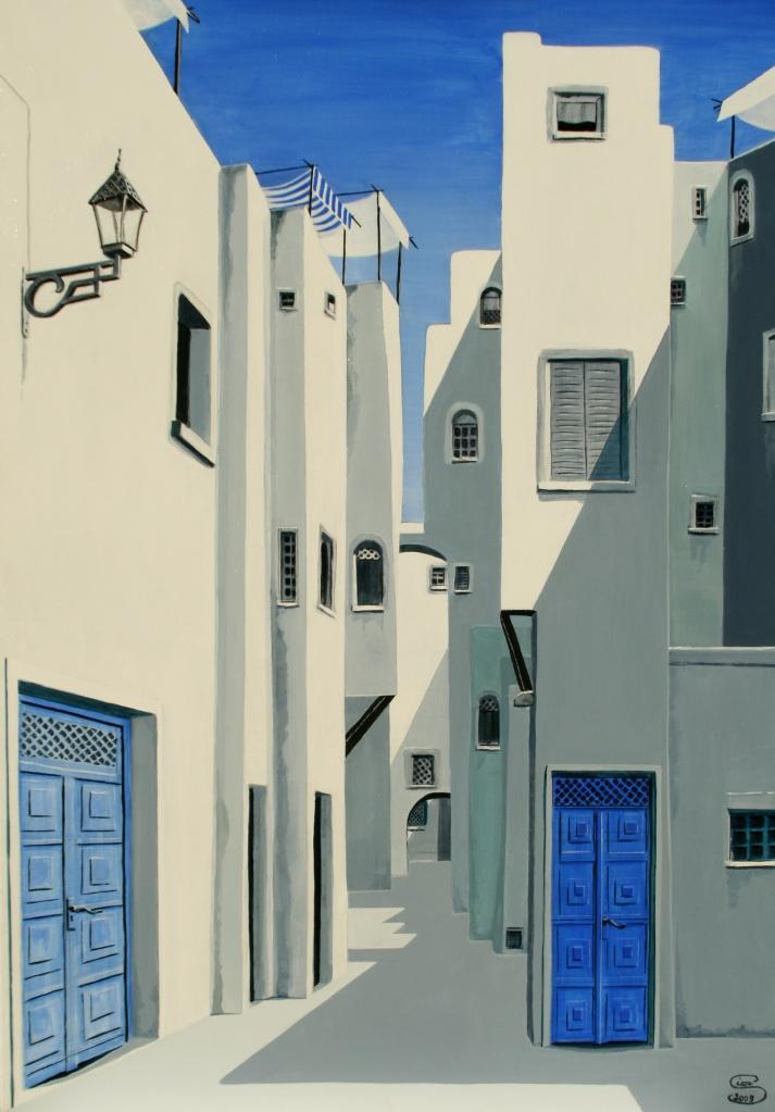 Medina am Chott el Djerid Acryl auf Leinwand 100 x70
