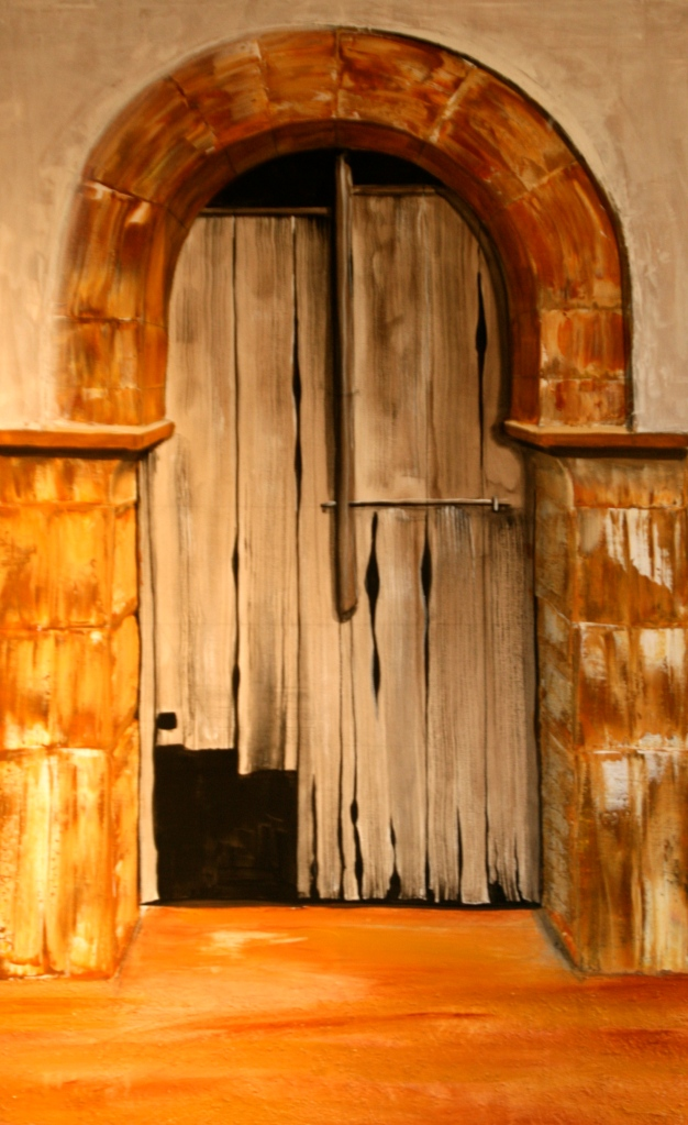 Tor zum Innenhof Acryl auf Leinwand 100 x70