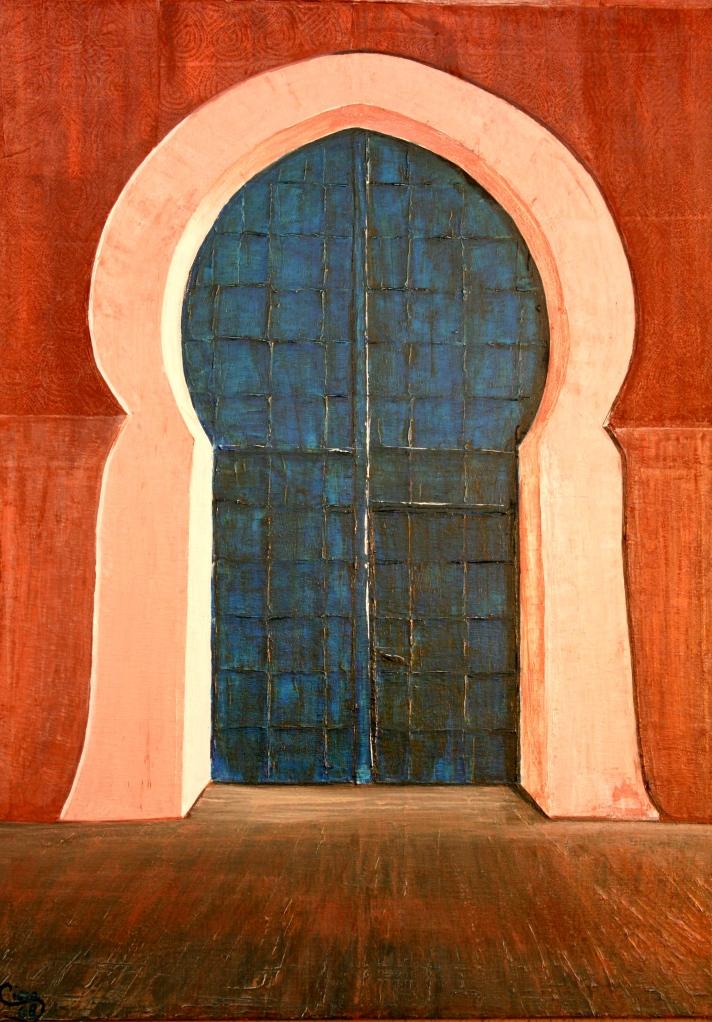 Tor zur heiligen Stadt Kairouan Acryl auf Leinwand 100 x70